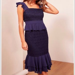 FINDERS KEEPERS Afterglow Dress In Navy